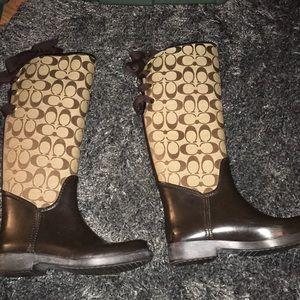 Coach boots sz 7